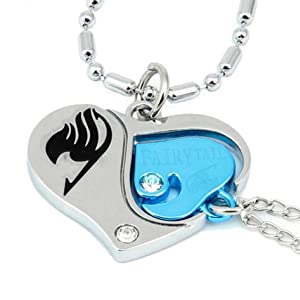 fairy tail lovers heart necklace